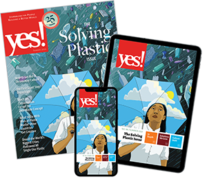 The cover of the Solving Plastic issue