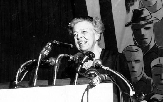 Eleanor Roosevelt addresses AFL-CIO.
