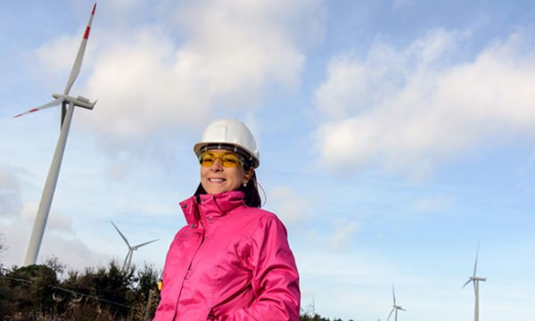 Woman With Windmills photo from Shutterstock