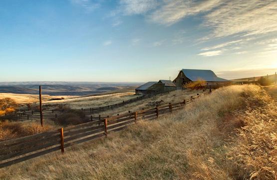 A ranch in rural Washington state.
