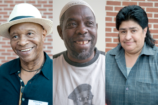Survivors of solitary confinement. Photos by Terry Foss.
