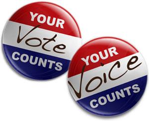 Your Vote/Voice Counts