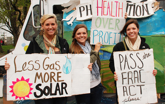 Anti-fracking protesters.