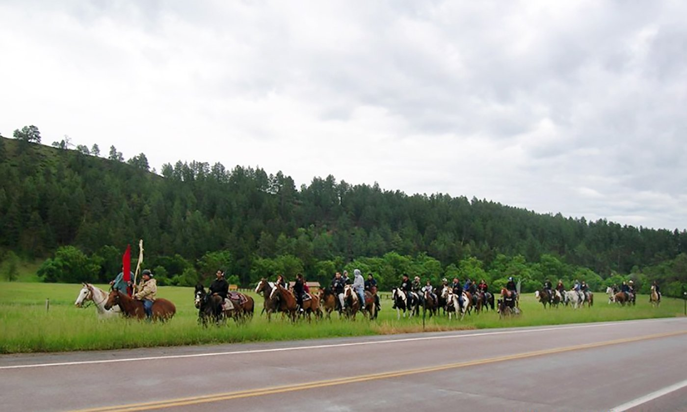 Lakota Youth Head Out on Search and Rescue Mission on Horseback
