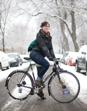 Amanda Winter biking by Martha Williams