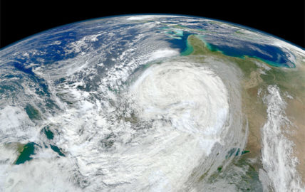 Hurricane Sandy as seen from space.