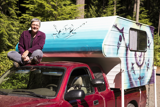 Sarah on Truck for Yes web.jpg