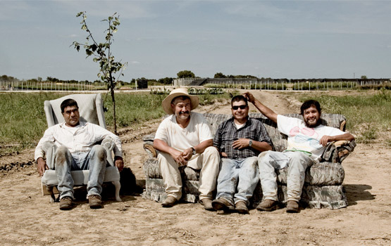 Mexican farm workers in Texas.