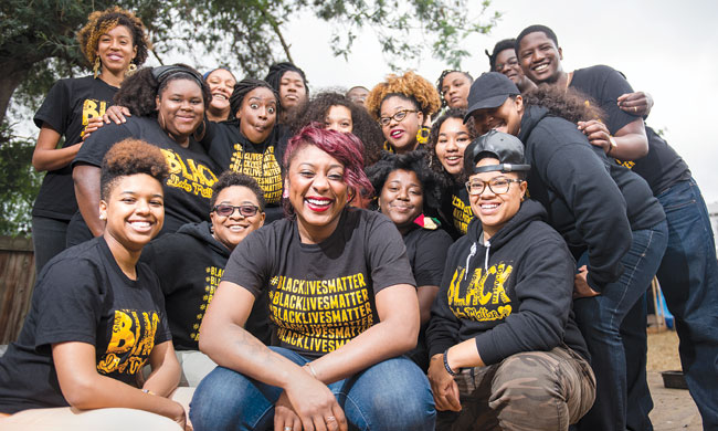Alicia Garza and Bay Area Black Lives Matter photo by Kristin Little