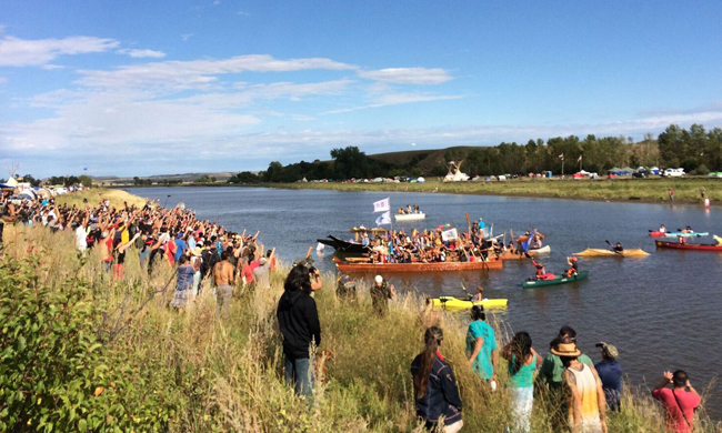 In Photos: Northwest Canoe Tribes Arrive at Historic Gathering at Standing Rock