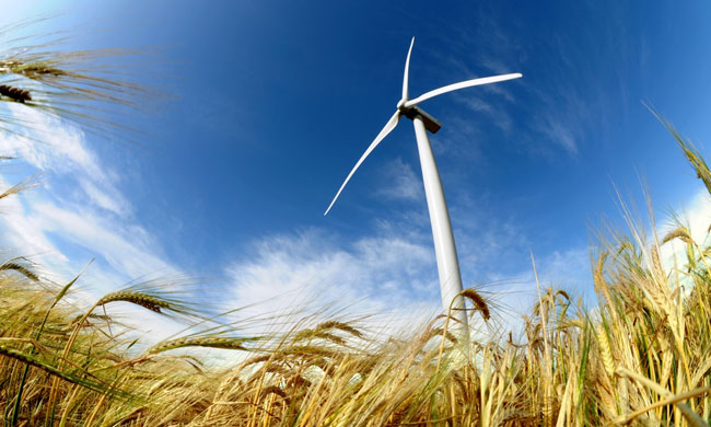 Wind Power on Plains photo from Shutterstock