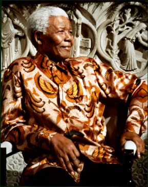 Nelson Mandela photo by Jane Feldman