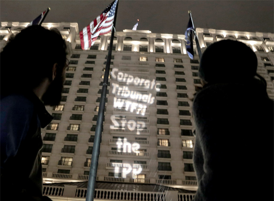 "TPP Protestors to Foreign Negotiators: ""Don't Let U.S. Bully You"""