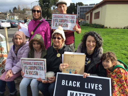 Anti-Islamophobia canvassers from Jewish Voice for Peace work their way through Oakland