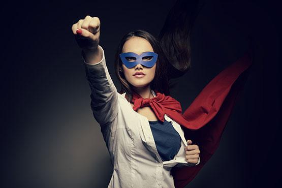 Superhero Woman photo from Shutterstock