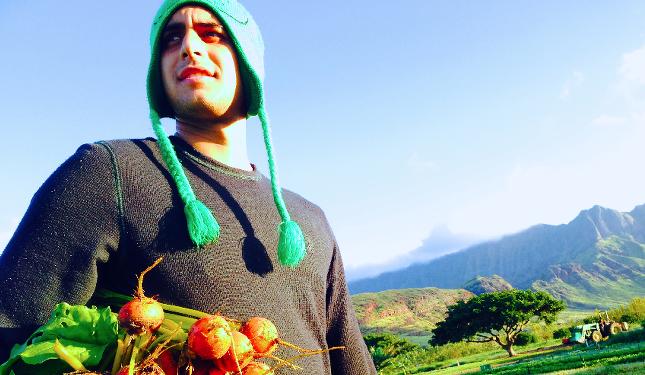 Kalani with beets