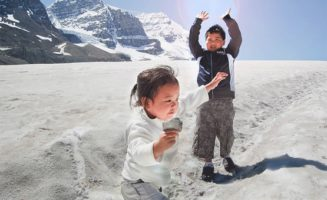 Kids in Ice Field photo by John Corvera