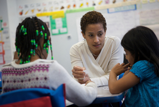 Teacher and students. Photo by US Department of Education
