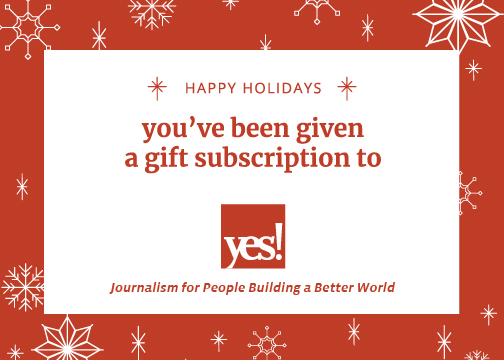 Print Your Own Gift Card Yes Magazine