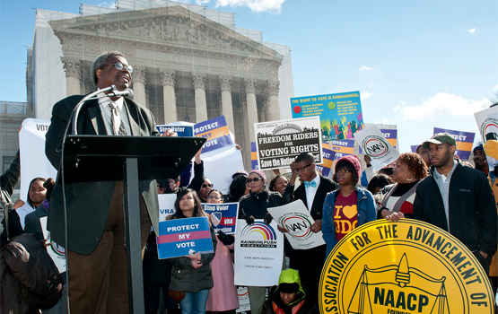 Voting Rights Act rally