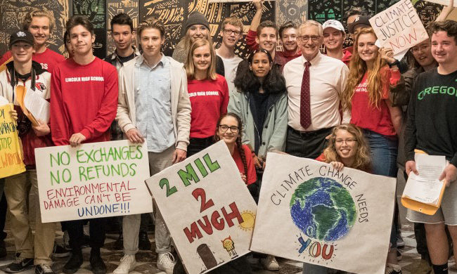 Student activists with Bill Bigelow and Tim Swinehart.jpg