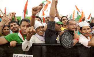 Anti corruption rally in India. Photo by Ishan Khosla.