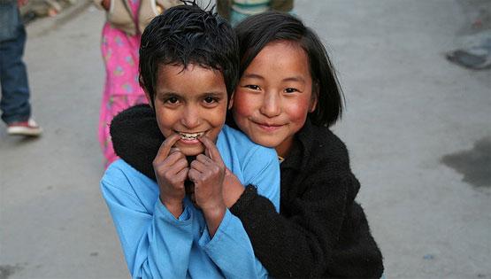 Children in Ladakh photo by Daniela Hartmann