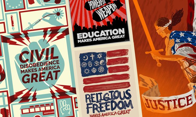What Makes America Great? Artists Resist Trump With 100 Days of Posters